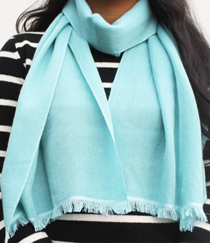 70% Cashmere and 30% Silk Scarves in Eyelash Fringe