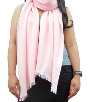 A Grade 70 Cashmere 30 Silk Pashmina Shawl in Eyelash Fringe