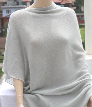 Spring cashmere poncho