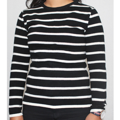 Black-and-White-Stripe-Sweater