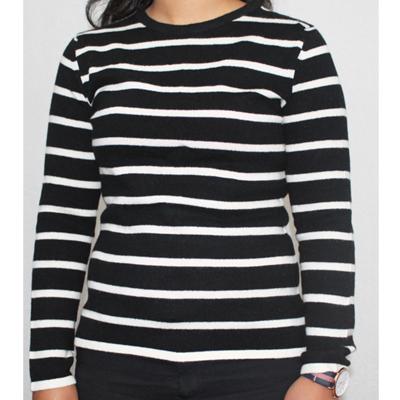 Black-and-White-Stripe-Sweater