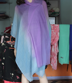 Blue and Purple shaded summer pashmina shawls
