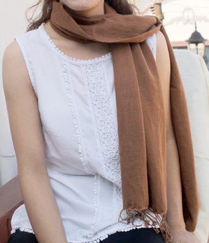 70% Cashmere and 30% Silk Scarves in Classic Fringe