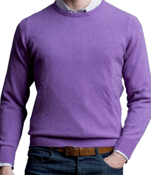 Crew Neck Mens Cashmere Sweater