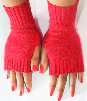 Ladies Cashmere Hand Warmers Gloves