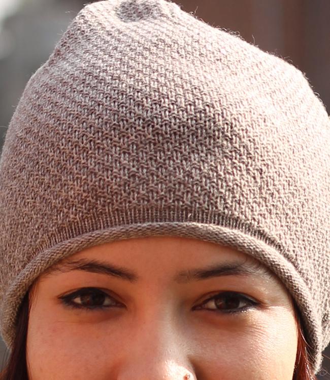 Moss Stitch Beanie Hat