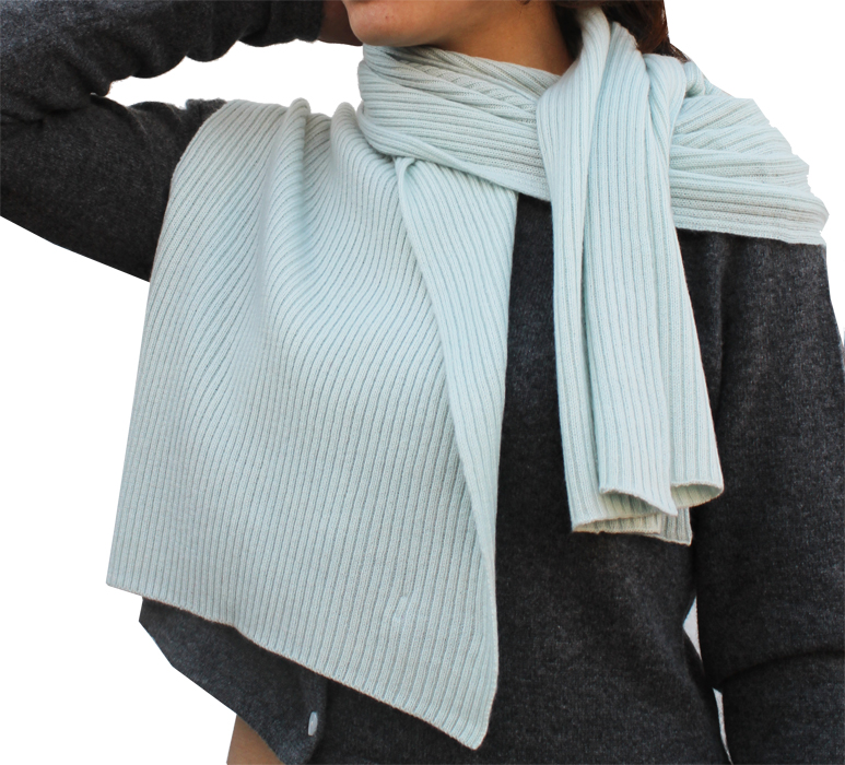 Knitted Scarf in Ribbed