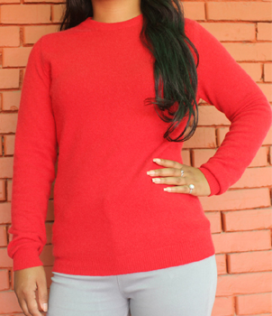 Round Neck Classic Cashmere Sweater