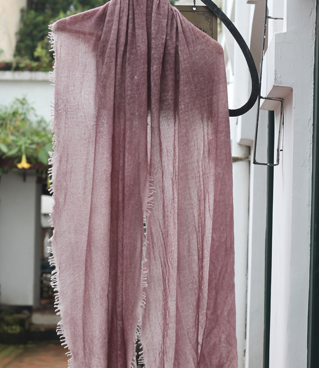 Hand Felted Cashmere Shawl in Thistle purple