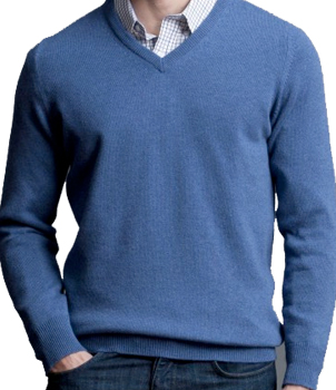 V-Neck Mens Cashmere Sweater