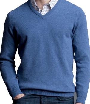 V-Neck Mens Cashmere Sweater