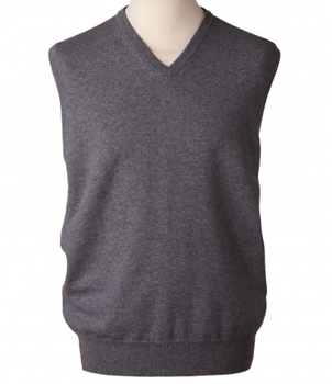 V-Neck Slipover Mens Cashmere Sweater