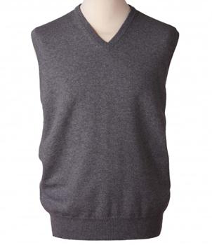 V-Neck Slipover Mens Cashmere Sweater
