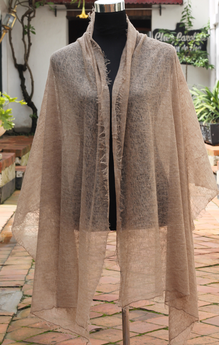 Summer Cashmere Pashmina Shawl in brown colour