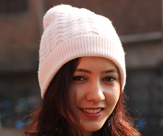 Cashmere Cable Knit Beanie Hat