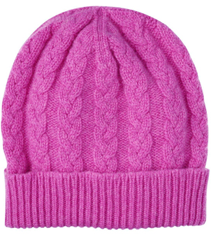 Unisex Cashmere Cable Knit Hat