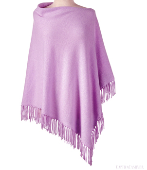 Cashmere poncho with the fringe