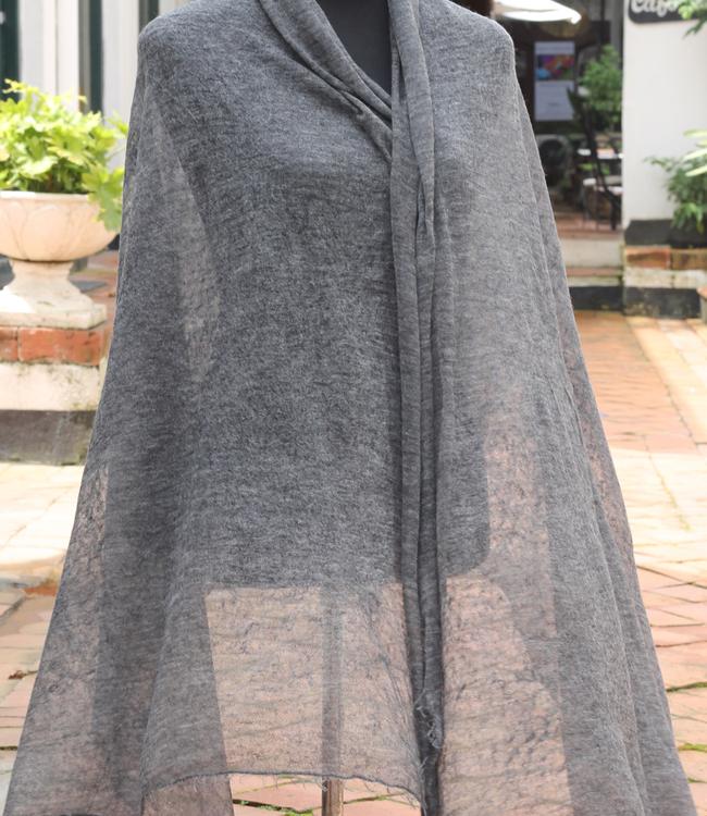 Summer Cashmere Pashmina Shawl in Dark Grey