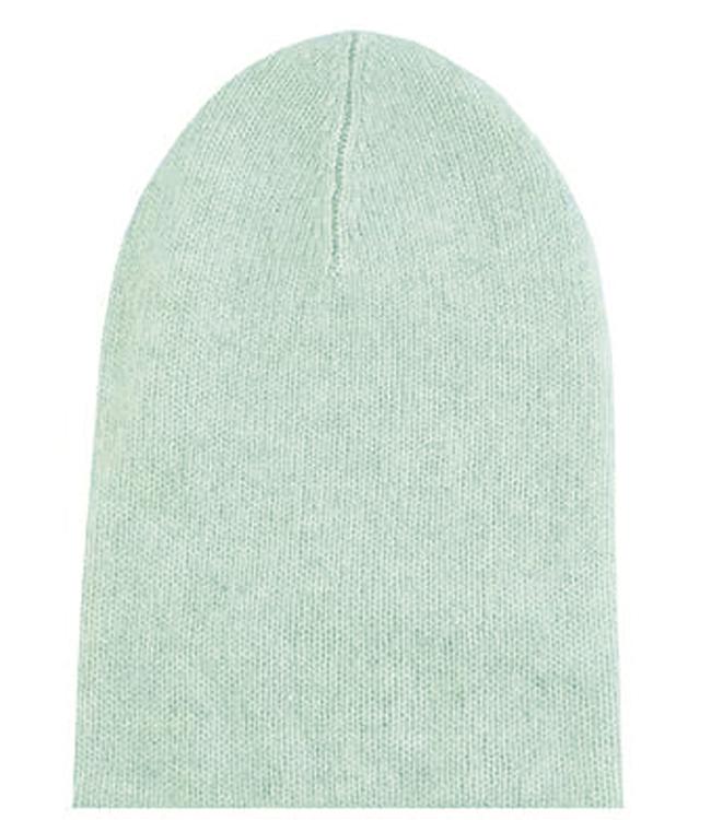 Tubular knit Cashmere Beanie Hat