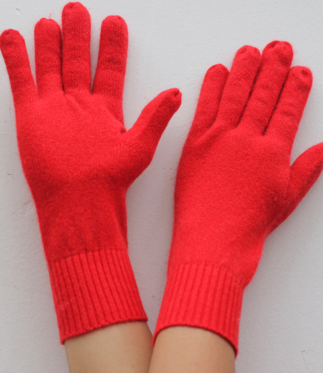 Cashmere Gloves in Plain knit