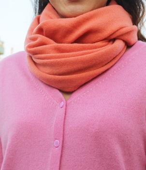 Infinity Scarf in Plain Knit