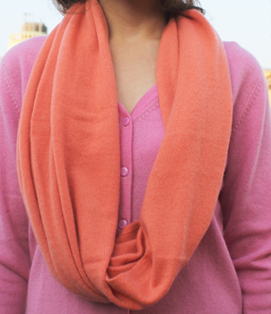 Infinity Scarf in Plain Knit