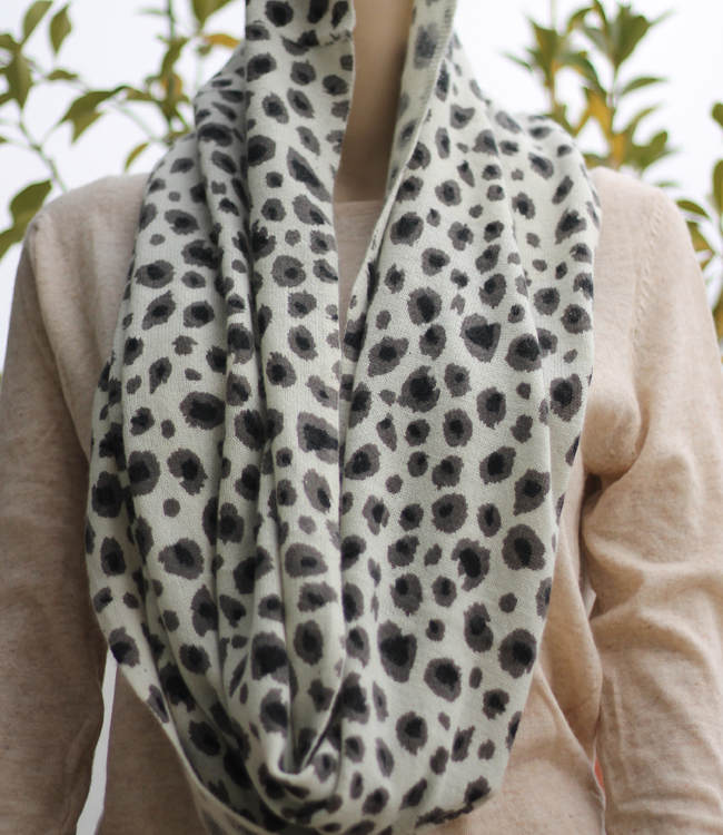 Leopard printed infinity scarf