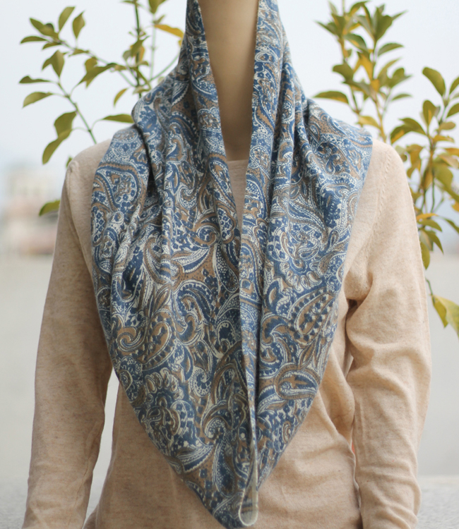 Nature inspired printed infinity scarf