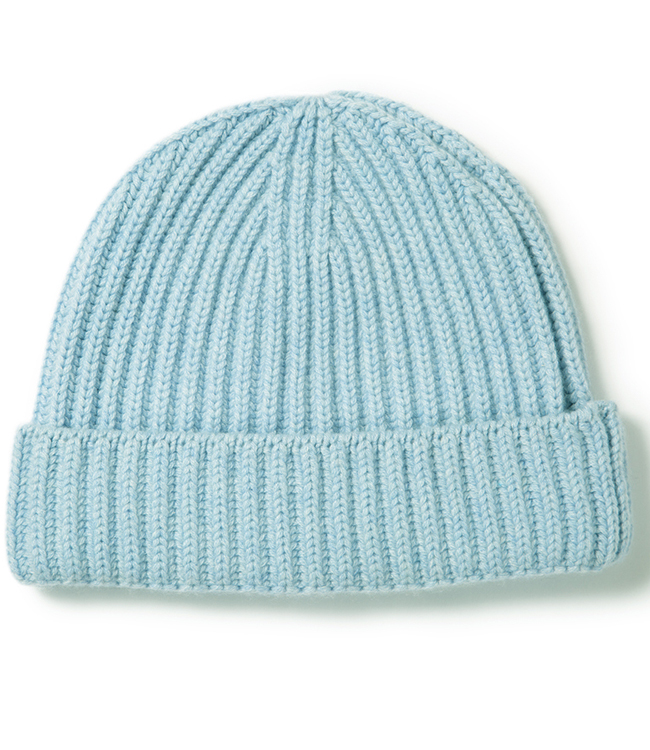 Tight twist ribbed Cashmere Beanie Hat