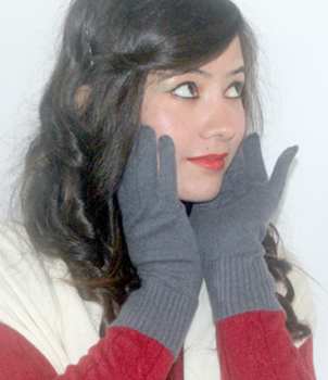 A Grade 100% Cashmere Pashmina Gloves