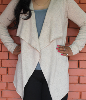 Womens Cashmere Waterfall Cardigan