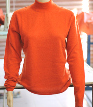 Turtle Neck Cashmere Sweater in T style