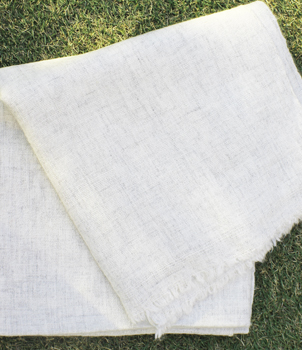 White Colour Natural Shawl
