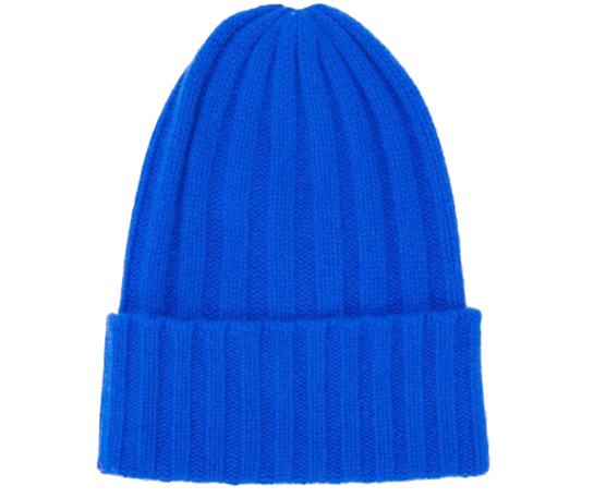 Cashmere Beanie hat in Wide Knit style