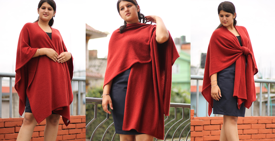 High Quality and Low Price Cashmere Poncho in various design