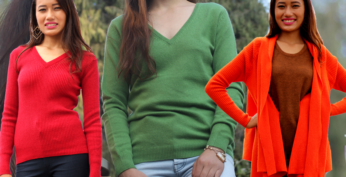 Cashmere Knitwear and Clothings